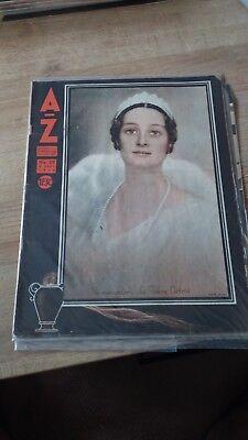 Revue Vintage - AZ HEBDO N°25/1935 - REINE ASTRID FUNERAILLES (16 pages)