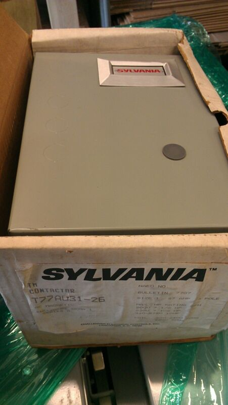 New in open box old stock Sylvania Contactor T77A031-26 size 1 BUL 7707 30 amp