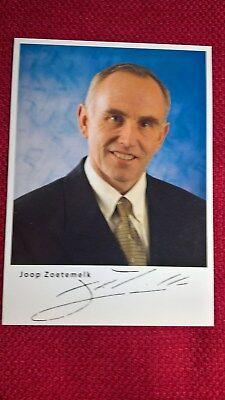 Autogrammkarte von Joop Zoetemelk (Radsport), Signatur gedruckt, Postkartengröße