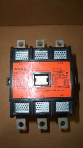 New ASEA EH150 Size 4 Contactor Starter 125HP 135 Amp 600v 120v Coil