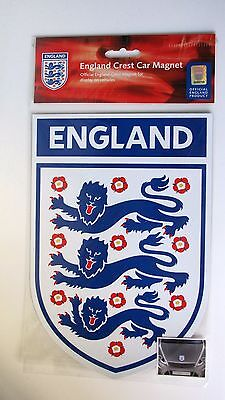Official England three lions crest car van magnet 25 x 17cm approx for World Cup