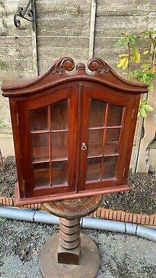 Beautiful Vintage Wooden Double Door Decorative Wall Display Cupboard (C1)