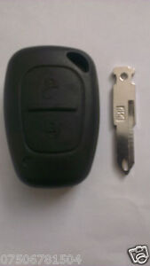 RENAULT TRAFFIC MASTER KANGOO VAN 2 BUTTON FOB BLIP REMOTE KEY SHELL CASE