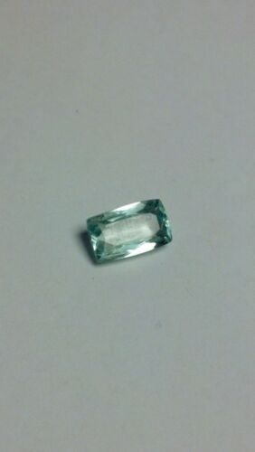 5.8 Ct Marvelous Mint Green Afghanistan Hiddenite Emerald Cut Gemstone