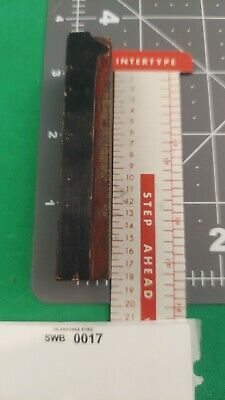 Vintage Wood Type Letterpress Printing Block Wooden Number - 1