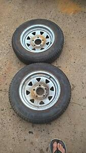 13INCH GALVANISE BOAT OR JETSKI TRAILER TYRES Georges Hall Bankstown Area Preview