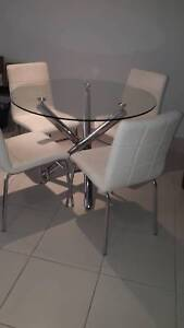 Kitchen Glass Dining table and chairs