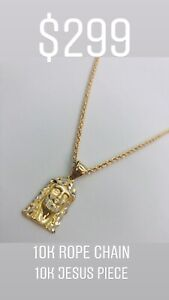 $299 Taxes in for 10KT Gold Rope Chain + Jesus