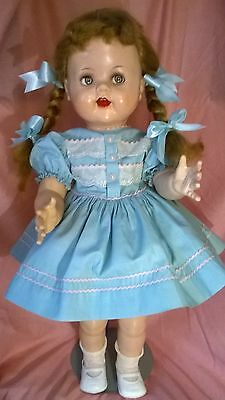 "VTG.1950's IDEAL SAUCY WALKER 22""DOLL.ORIGINAL DRESS. VERY GOOD COND. BEAUTIFUL!"