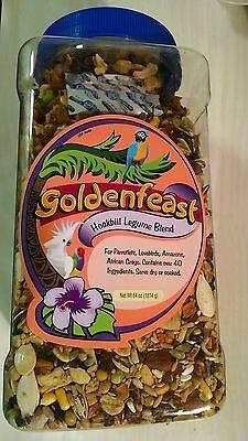 4 lbs Goldenfeast Hookbill Legume Bird Food 64 oz Amazon Grey Conure Pionus LB