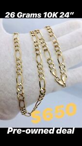 "$650 for 24"" Inch 26G 10K Gold chain"