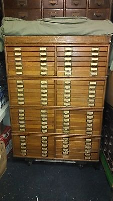 GLOBE WERNICKE MAP FILE PRINT ARCHITECT 48 DRAWER RARE CABINET BOOKCASE  on Rummage