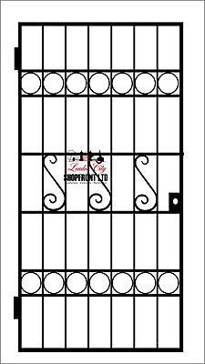 HEAVY DUTY GATE/STEEL SECURITY DOOR, GATE. METAL GARDEN GATE / WROUGHT IRON GATE