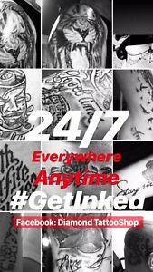 Diamond Tattooshop se déplace tatouages/piercing  Contact us