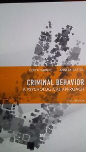 Crim 102: Criminal Behavior (a psychological approach)