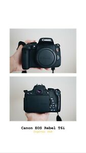 Canon EOS Rebel T6i DSLR with 18-55mm and 50mm f/1.8 Lenses