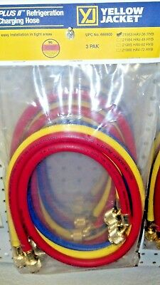 Yellow Jacket Refrigeration Charging Hose Set 36 Yellow Blue Red