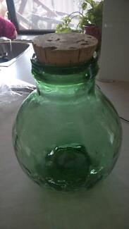 old large green glass demijohn cork lid Ferndale Canning Area Preview