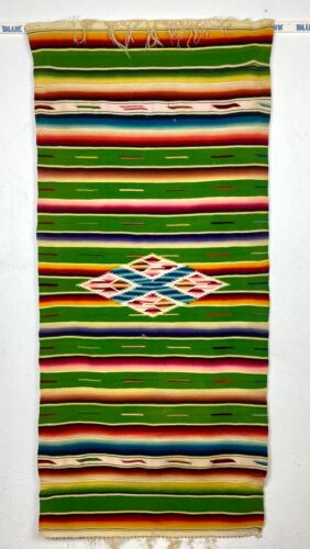 Antique Mexican Saltillo Rug, Shawl, Poncho