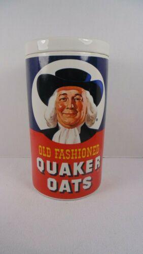 Vintage 1977 QUAKER OATS  Ceramic Cookie/Oatmeal Jar/ Canister *REGAL CHINA* EUC