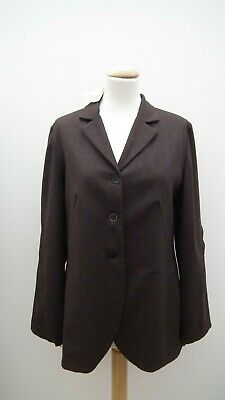 NWT * LILITH * Brown wool jacket / blazer * Asymmetric zippers * Size Medium