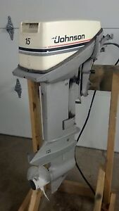 johnson 15 hp outboard motor boat engine 10 15 20 25