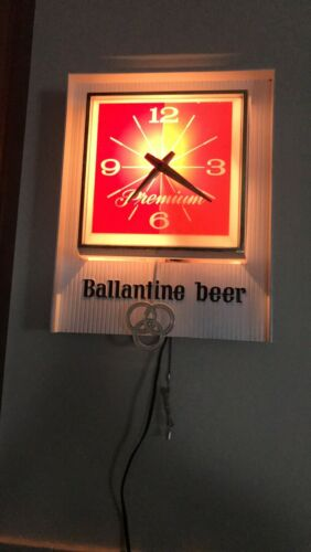 Vintage Ballantine Beer Clock (Electric)