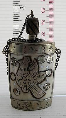 ELEGANT Old Tibet Tibetan Silver Snuff Perfume Bottle HANDMADE