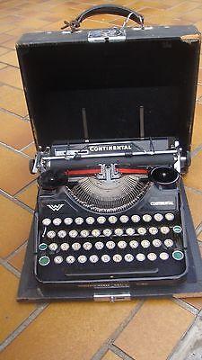 Alte CONTINENTAL Schreibmaschine,  Wanderer Werke Siegmar-Schönau, im Koffer