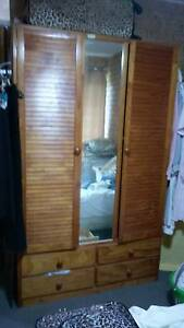 Timber wardrobe with mirror and drawers - Perfect condition Coolum Beach Noosa Area Preview