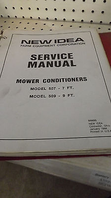 New Idea 507 509 Mower Conditioner Service Manual