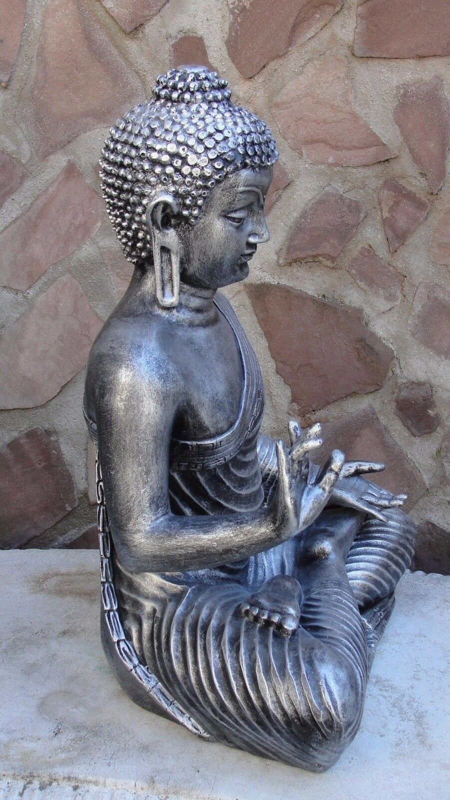 buddha gro statue feng shui garten figur wetterfest deko tempelw chter a s eur 59 00. Black Bedroom Furniture Sets. Home Design Ideas
