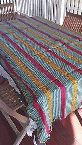 Multi-coloured Indian cotton tablecloth for 6 seater dining table Albion Brisbane North East Preview