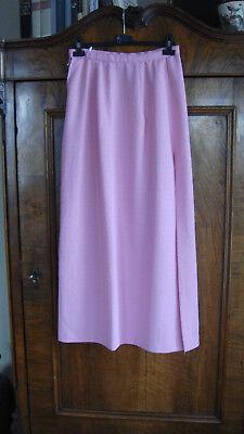 langer Rock mit Gehschlitz, rosa, selbstgenäht, 1960er Jahre