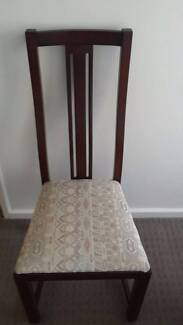 EIGHT (8) wooden Dining Chairs