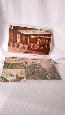 4 Vintage Old Chicago Hotel Postcards Unused Blackstone, YMCA, Conrad & Edgewater