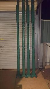 **4 x PINE TURNED VERANDA POSTS & 4 x METAL BASE SUPPORTS** Northfield Port Adelaide Area Preview