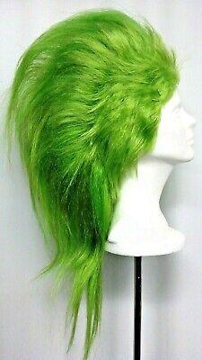 Neon Green Mohawk Wig 80's Costume Synthetic Fiber