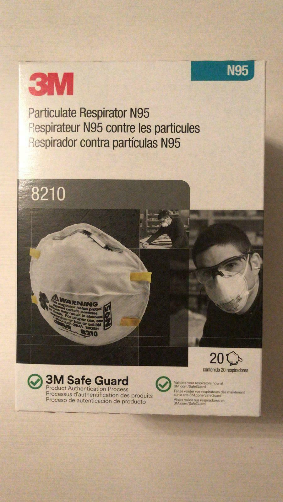 8210 BOX OF 20 BRAND NEW N GRADE 95 EXP 9/2025