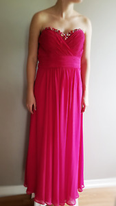 Lipstick Ruby Strapless Prom Dress for Sale