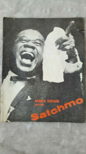 "SIGNED Louis Armstrong ""Satchmo"" Uk Tour 1962 Souvenir Brochure."
