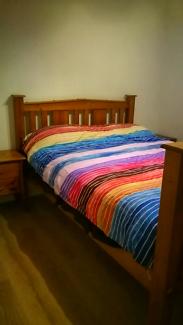 solid timber queen bedroom suite