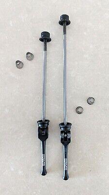 QR-A Bike Titanium Ti Quick Release Skewers 100//135m 44g-pair Black