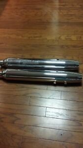 Harley Road King stock slip on mufflers for sale