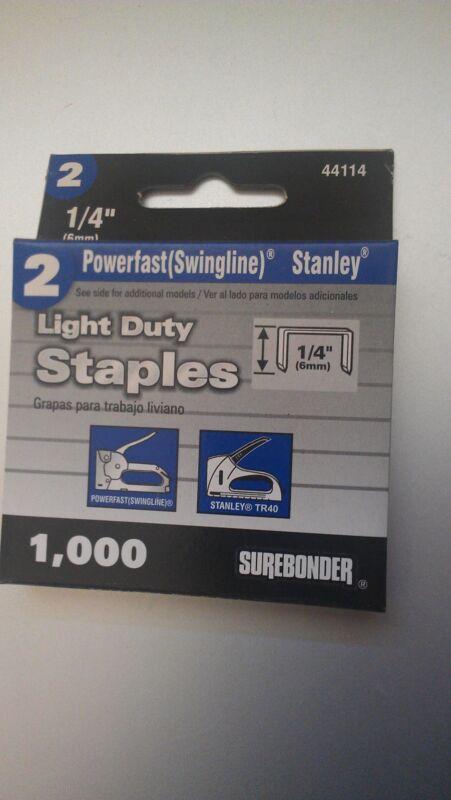 """1/4"""" Swingline 101 Vintage Staplegun Staples, Stanley, Bostich, Craftsman, Ace"""