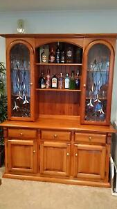 Wall Unit/Buffet & Hutch - stained timber in excellent condition Shepparton Shepparton City Preview