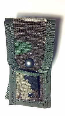 2 NEW US Military MOLLE II 9MM Magazine Pouches (Single Mag) WOODLAND