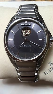Edox Les Bemonts Automatic Mens Watch Gorgeous Full Set!