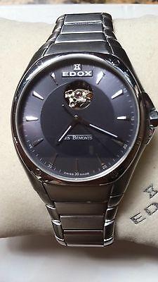 Edox Les Bemonts Automatic Mens Watch Gorgeous Full Set!