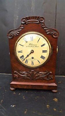 A MAHOGANY ENGLISH BRACKET CLOCK  WILLIAMSON OF PIMLICO LONDON